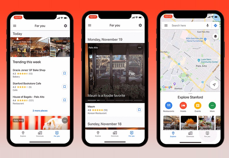 Google Maps' new For You tab of personalized recommendations launches on iOS Devices