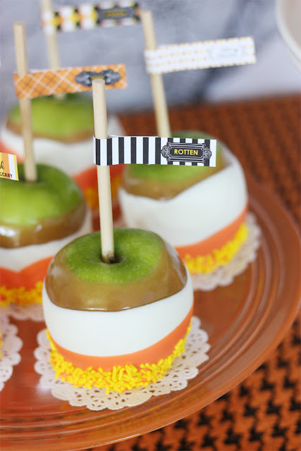 triple dipped candycorn carmel apples