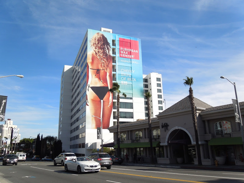 European Wax Center Ibiza bikini billboard
