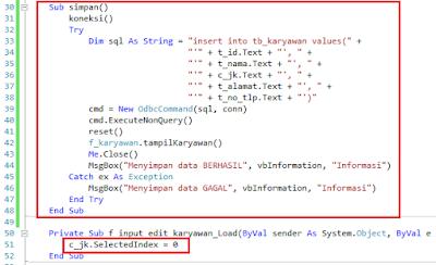 7.2 - Part5 Menciptakan Aplikasi Hotel Dengan Vb.Net + Database Mysql – Form Input Karyawan