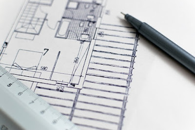 Plans de construction d'architecte.