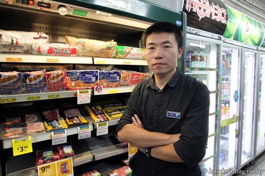 Marewa Four Square owner C J Fu relates how he caught a shoplifter for the second time in one day. photograph