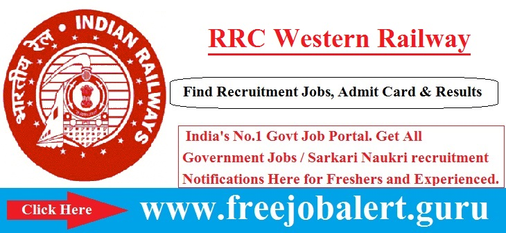 RRC, RRC Western Railway, Helper Trackman Posts Candidate age limit is 18 to 32 years