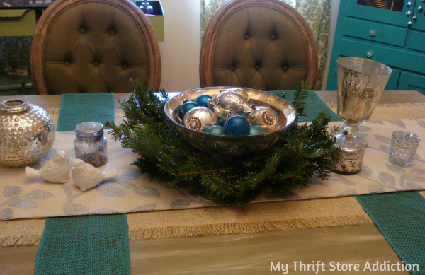 Mercury glass tablescape