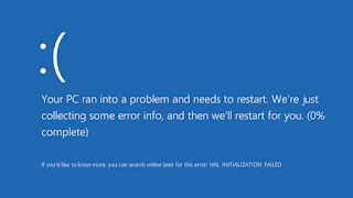 Blue screen di windows 10