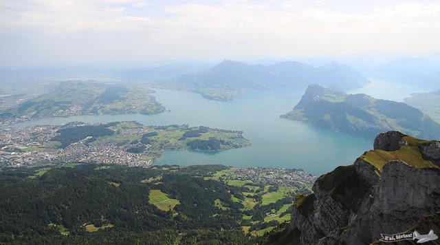 Lago Lucerna visto do Monte Pilatus, Suíça