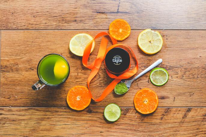 Citrus matcha green tea