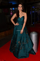 Raashi Khanna in Dark Green Sleeveless Strapless Deep neck Gown at 64th Jio Filmfare Awards South ~  Exclusive 013.JPG