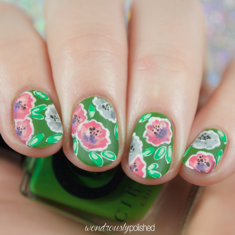 Wondrously Polished An Updated Some Floral Nail Art