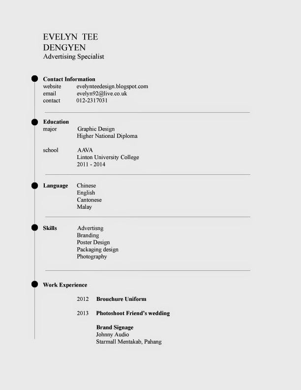 Evelyn \'s design: Formal Resume and Cover letter