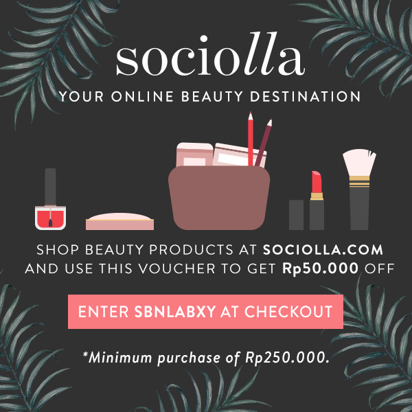 Use my code to shop on Sociolla