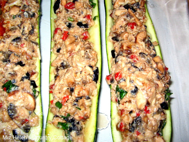 Whats For Dinner Next Week: Stuffed Zucchini at Miz Helen's Country Cottage