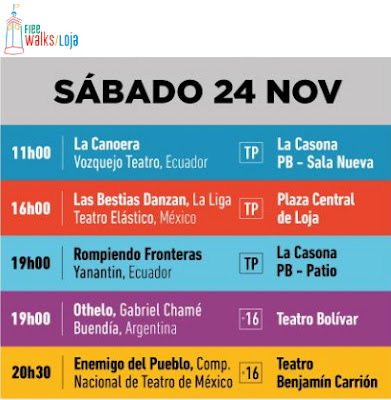 Arts Festival Saturday November 24th Loja Ecuador