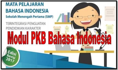 Download Modul PKB Bahasa Indonesia Sekolah SMP/MTs Edisi Revisi 2017