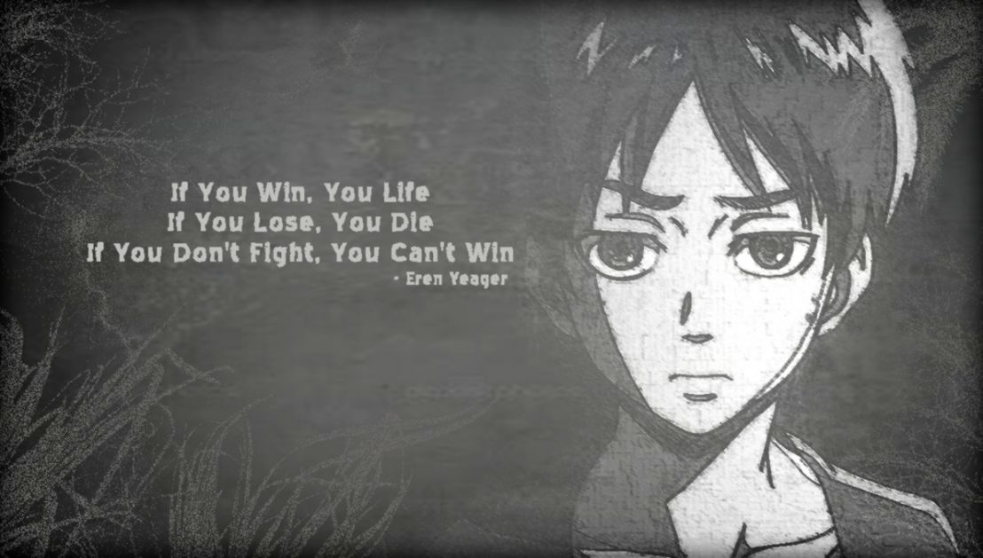 Eren Quote Hd Wallpaper Wallpapers Heroes