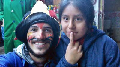 Gerard durante su viaje solidario a Cusco