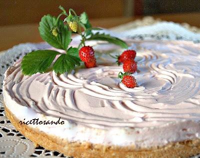 Torta fredda allo yogurt cuore di cioccolato ricetta dolci a cucchiaio