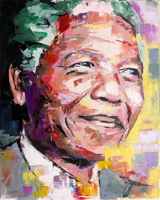 Art of the Day - Richard Day www.toyastales.blogspot.com #ArtoftheDay #NelsonMandela #RichardDay #toyastales