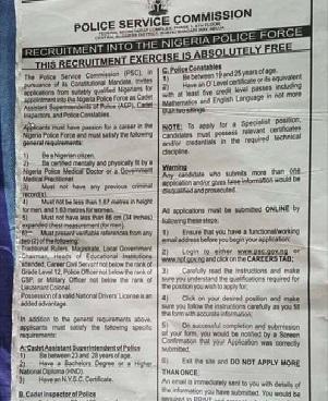 Nigeria Police Recruitment Portal 2019