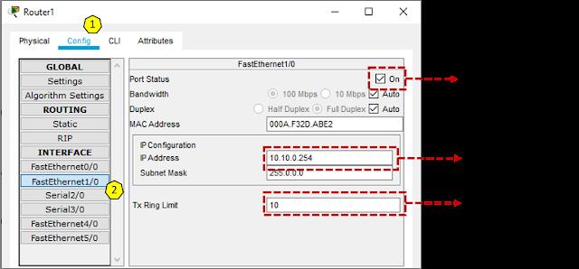 Konfigurasikan router jaringan 2