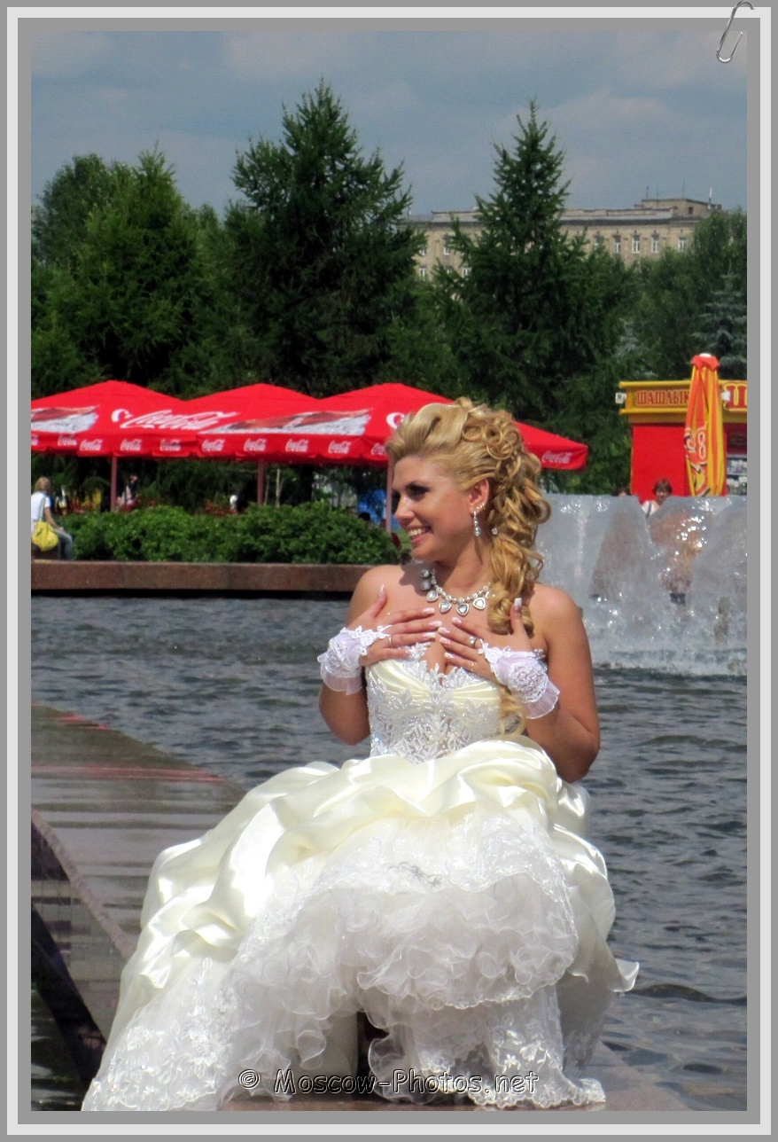 Blonde Moscow Bride and Moscow Summer