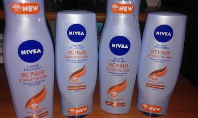 Szampon i odżywka NIVEA repair&targeted care.