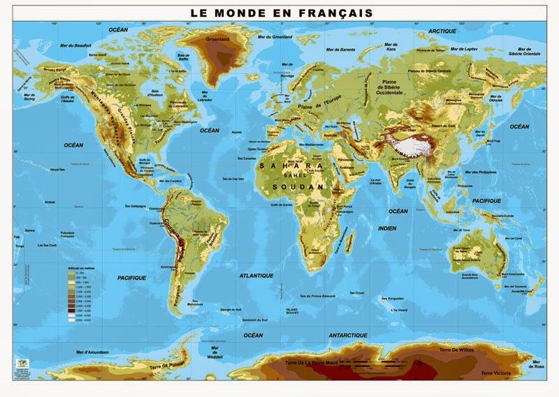 Mapa Físico Del Mundo.Mapa Fisico Del Mundo