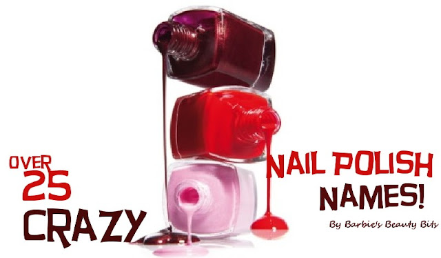 Crazy nail polish names including O.P.I., Esse, Bootie Babe and more by Barbie's Beauty Bits
