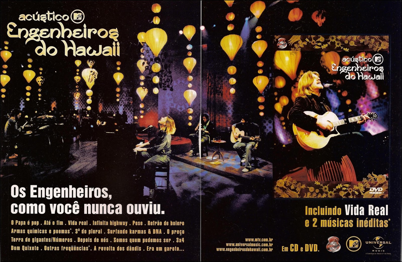audio dvd engenheiros do hawaii acustico mtv