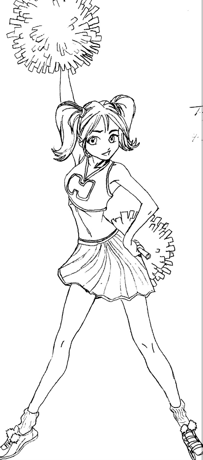 Cheerleaders dance coloring page source http www coloring kids net