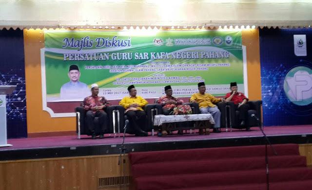 Sekitar Majlis Diskusi Persatuan Guru SAR KAFA Negeri Pahang 2017
