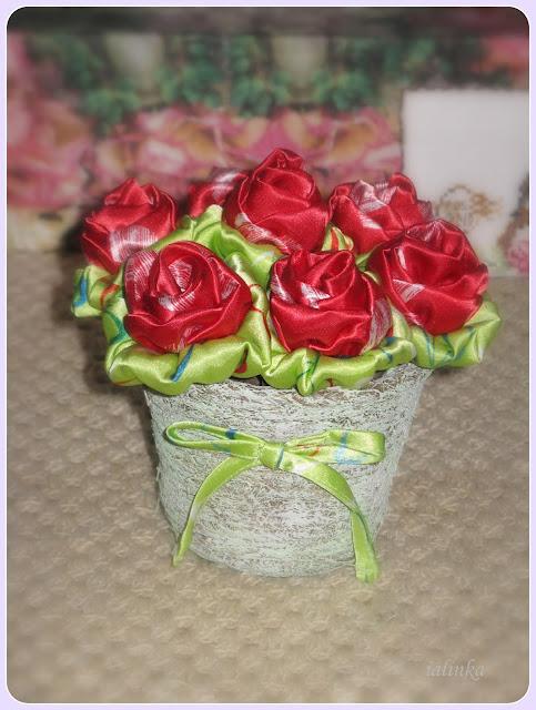 roses цветы своими руками из ткани