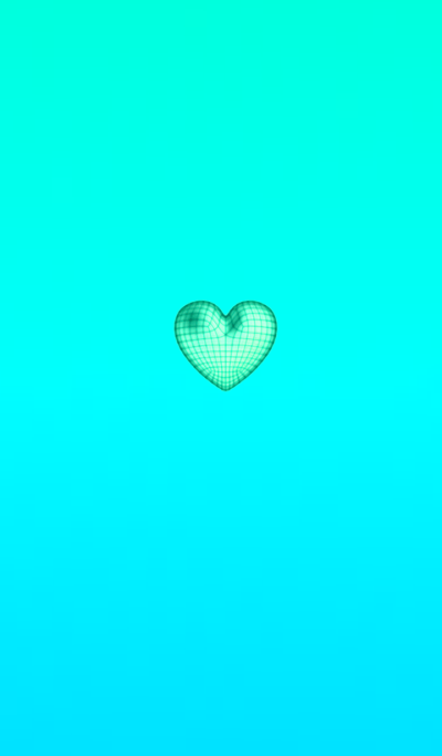 Wire Heart Light Blue