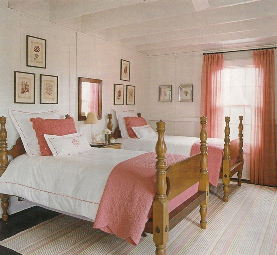 Guest Bedroom White And Gray: Peach And Pearl: Guest Bedroom Style