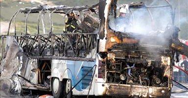 ledakan bis di athma idlib