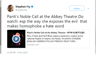 Stephen Fry supports Marriage Equality in ireland