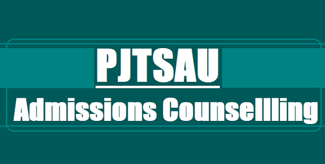 PJTSAU B.Tech Degree Admissions, Counselling dates,MPC BPC Stream