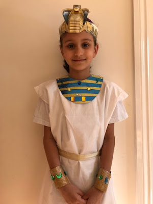 Homemade Egyptian costume for a child
