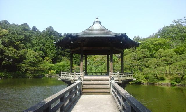 pagoda on a pond, Narita, Tokyo, Japan