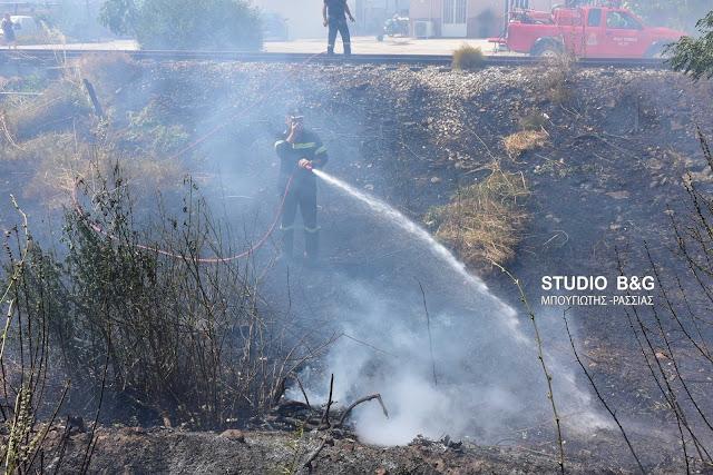 Πυρκαγιά στο Ναύπλιο πίσω από τις Δικαστικές φυλακές