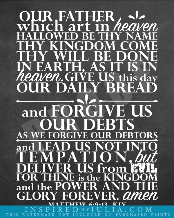 It's just a picture of Gutsy Lord's Prayer Sign Language Printable