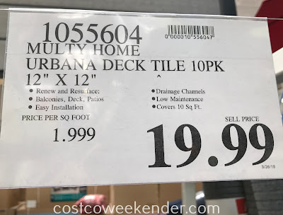 Deal for 10 Multy Home Urbana Deck Tiles at Costco