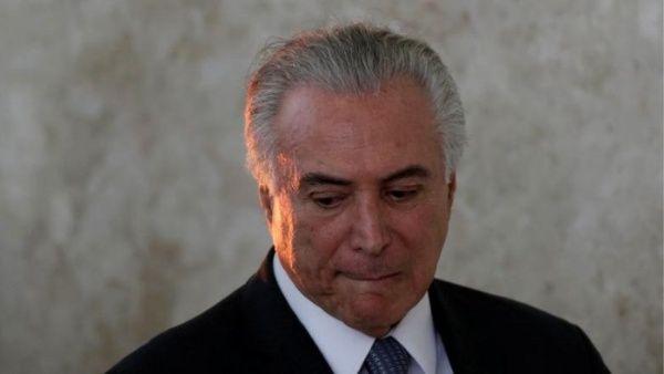 Justicia de Brasil revoca prisión preventiva contra Temer