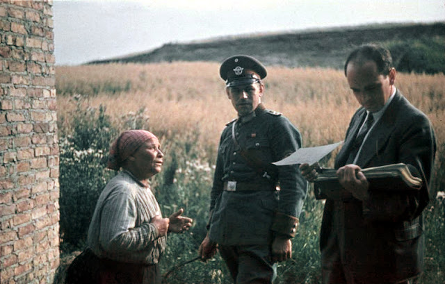 Romani woman with German police officer and Nazi psychologist Dr Robert Ritter