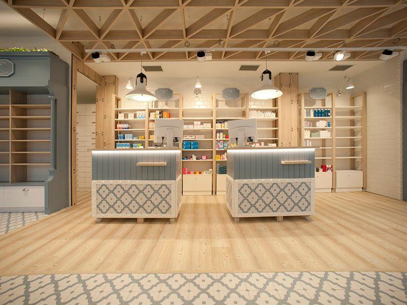 Marzua dise o de farmacia en guip zcoa un proyecto for Empresa vasca muebles baratos