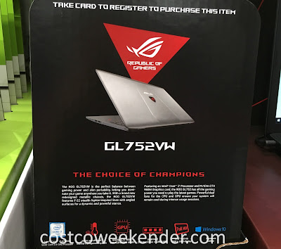 Costco 1094095 - Asus ROG GL752VW 17.3 inch Gaming Laptop - a computer great for your home or the office
