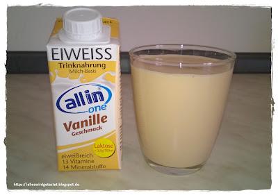 Allin one Eiweiß Drink Vanille Geschmack