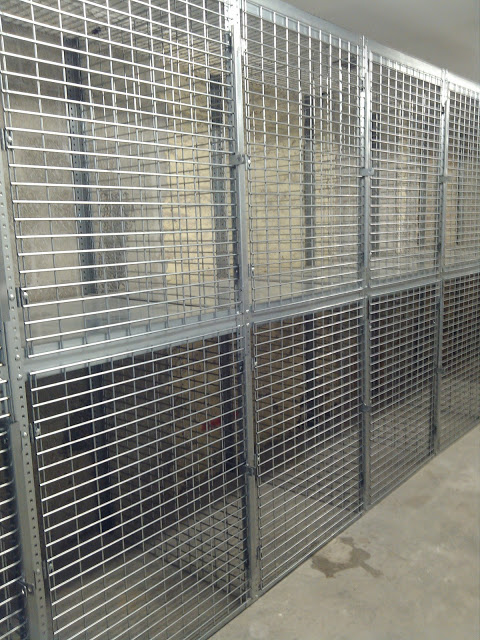 welded wire cages with full height anti theft lock bars. Made with 4ga welded wire. Double the thickness of all other makes. Lifetime Warranty. & NYC Security Cages