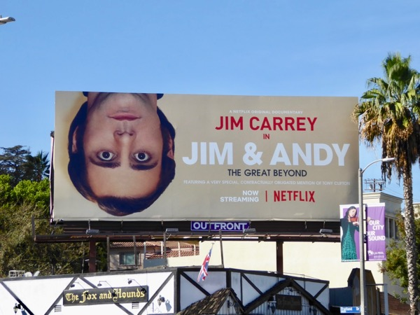 Jim and Andy Great Beyond billboard