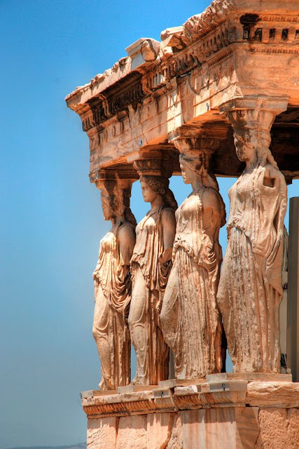 Caryatid Porch of the Erechtheum   Acopolis Athens, Greece